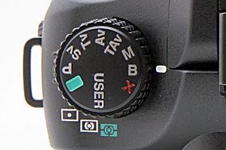 pentax k20d mode dial