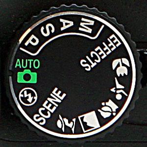 Nikon DSLR Mode Dial