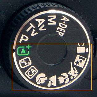 DSLR Mode Dial Auto Settings