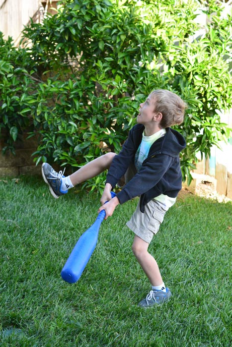 Nikon D7100 Action - Boy With Bat