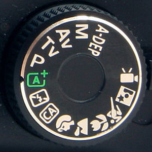 Canon DSLR Mode Dial