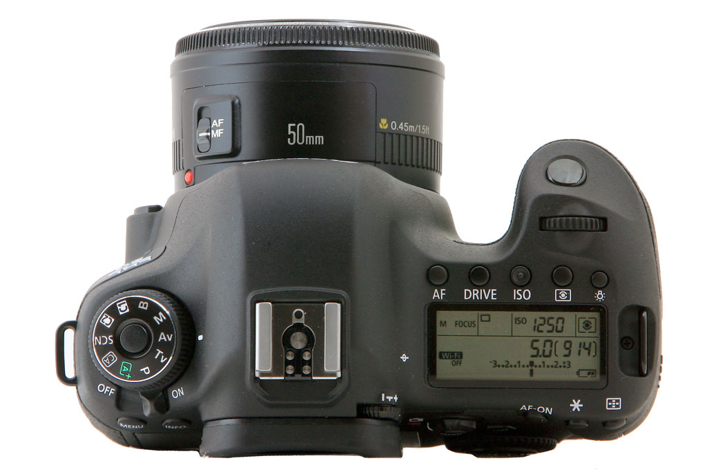 Canon 6D Top View