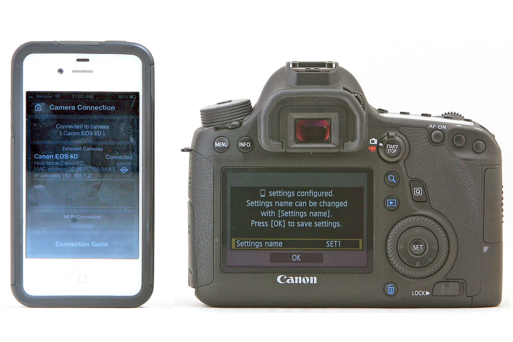 Canon 6D Wireless Connectivity