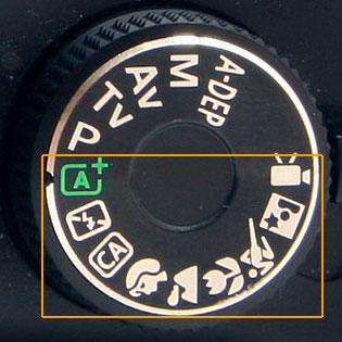 DSLR Mode Dial Auto Settings